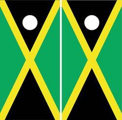 Jamaican Flag Cornhole Wraps