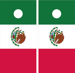 Mexican Flag Cornhole Wraps
