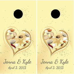 Beach Wedding Cornhole Wraps