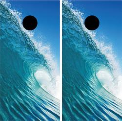 Wave Cornhole Wraps