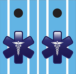 EMT Cornhole Wraps - Blue