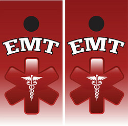 EMT Cornhole Wraps - Red