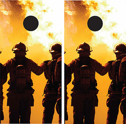 Firefighters Cornhole Wraps