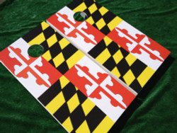 Maryland Flag Cornhole Set with Bags