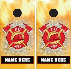 Personalized Fire Department Cornhole Wraps
