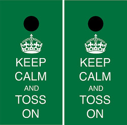 Keep Calm and Toss On Cornhole Set with Bags