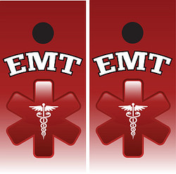 EMT Cornhole Set (Red) with Bags