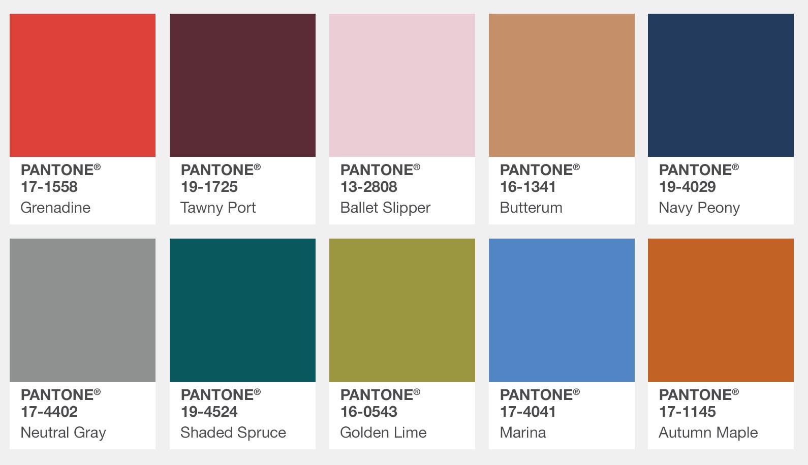 Pantone 2017 Cool Color Palette Flyboy Naturals Llc