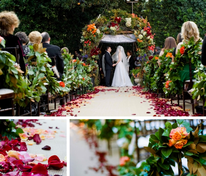 Five Festive Fall Wedding Aisles Inspired By Nature