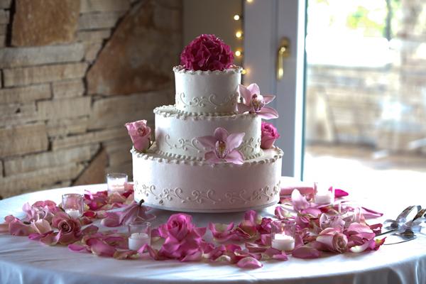 Flower Petal Wedding Cake
