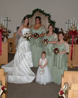 2005 Becky with Bridesmaids & Flower Girl