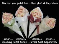 Blooming Petal Cones- holds 1/2-3/4 cup petals
