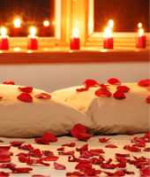 Romantic Rose Petals & Candles