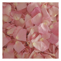 Bridal Pink Rose Petals - 30 cups Preserved Freeze-dried Rose Petals. Wedding Petals from Flyboy Naturals.