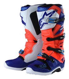 Alpinestar Tech-7 Troy Lee Designs Motocross Boots Red/Flo/Blue/White