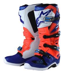 Alpinestars Tech-7 Troy Lee Designs Motocross Boots Red/Flo/Blue/White