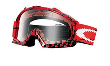 Oakley Proven MX Goggles Brake Check Red w/Clear Lens
