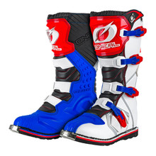 ONeal Rider MX Boots Blue/Red/White