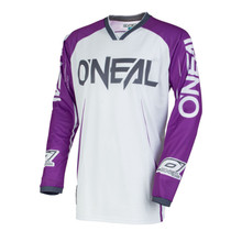 2018 O'Neal Mayhem Lite MX Jersey Blocker Purple/White