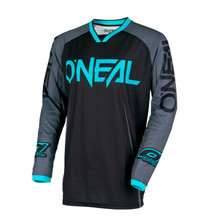 2018 O'Neal Mayhem Lite MX Jersey Blocker Black/Gray/Teal
