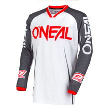2018 O'Neal Mayhem Lite MX Jersey Blocker White/Gray