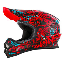 O'Neal 3 Series Attack MX Helmet Black/Red/Teal