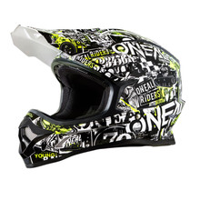 O'Neal 3 Series Attack MX Helmet Black/Hi-Viz