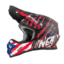 O'Neal 3 Series Mercury MX Helmet Blue/Red/White