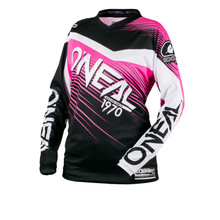 2018 O'Neal Element Racewear MX Womens Jersey Black/Pink