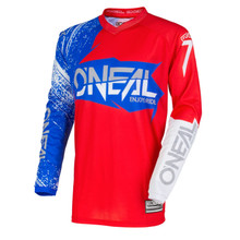 2018 O'Neal Element MX Jersey Burnout Red/White/Blue