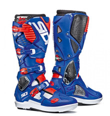 SIDI Crossfire 3 SRS White/Blue/Red Flo MX Boots