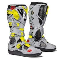 SIDI Crossfire 3 SRS Black/Ash/Yellow Flo MX Boots