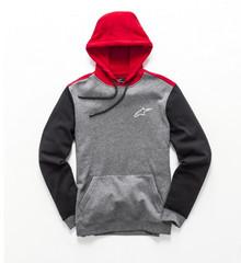 Alpinestars Men's Adult Fleece Overshot Hoody Charcoal/Red