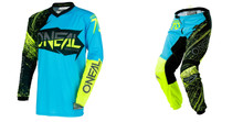 2018 O'Neal Element Men's Combo Burnout Black/Blue/Hi-Viz