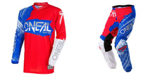 2018 O'Neal Element Men's Combo Burnout Red/White/Blue