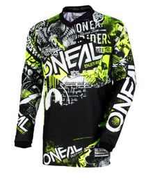 2018 O#Neal Youth Element Jersey Attack Black/Hi-Viz