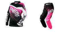 2018 O'Neal Element Women's Combo Racewear Black/Pink