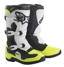 Alpinestars Tech 3S Youth Motocross Boots Black/White/Flo