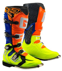 GAERNE REACT MX BOOTS ORANGE/BLUE/YELLOW