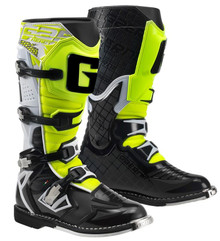 GAERNE REACT MX BOOTS WHITE/BLACK/YELLOW