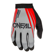 2018 O'Neal AMX Blocker MX Gloves Red/Gray