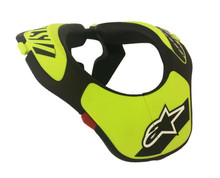 Alpinestars Youth Neck Support Black/Flo Yellow One Size