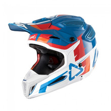 2018 Leatt GPX 5.5 V10 Composite MX Helmet Blue/White