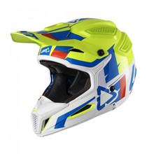 2018 Leatt GPX 5.5 V10 Composite MX Helmet Lime/White