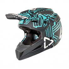 2018 Leatt GPX 5.5 V11 Composite MX Helmet Grey/Teal