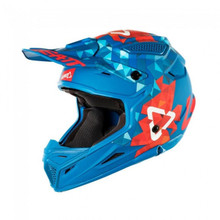 2018 Leatt GPX 4.5 V22 MX Helmet Blue/Red