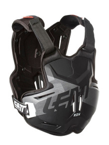 LEATT CHEST PROTECTOR 2.5 ADULT ROX BLACK/BRUSHED