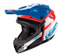 2018 Leatt 4.5 Polymer Compound V10 Junior MX Helmet Blue/White Motocross Off-Road
