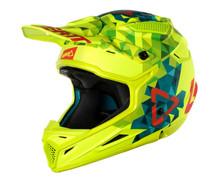 2018 Leatt 4.5 Polymer Compount V22 Junior MX Helmet Lime/Teal Motocross Off-Road