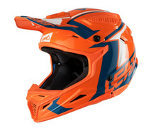 2018 Leatt 4.5 Polymer Compount V22 Junior MX Helmet Orange/Denim Motocross